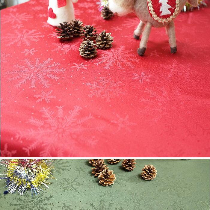 クリスマス テーブルクロス クリスタル140×180cm撥水性 洗えます