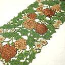 テーブルランナー 約25×160cmクリスマス 松ぼっくりの刺繍 インテリア