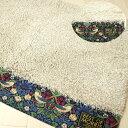 いちご泥棒 ウイリアムモリス 洗えるトイレマット日本製 高級感があります60×60cm変形