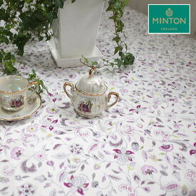 ミントン テーブルクロス ハドンホールグレーサイズ 130×180cm 4人掛けのテーブルに撥水加工 日本製