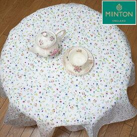 ミントン テーブルクロス MINTON 撥水加工ハドンホールアニバーサリー サイズ直径約130cmの円形コットン100% 綿 日本製