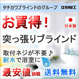 ブラインド ヨコ型ブラインド お買得アルミブラインド FIRSTAGE 浴室タイプ(突っ張り式)