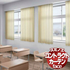 スミノエ カーテン コントラクト face 教育 スタンダード縫製 約1.5倍ヒダ E-6369〜6374 幅533×高さ300cmまで