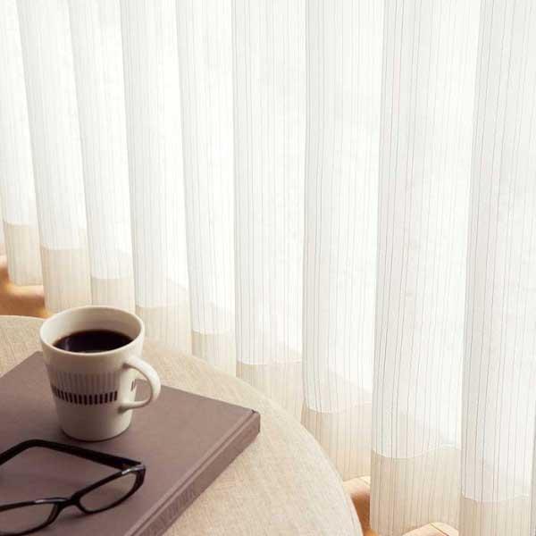 カーテン 激安 東リ オーダーカーテン&シェード elure ミラーレース KSA60484スタンダード縫製 約1.5倍ヒダ 2ツ山仕様 (税別価格) タッセルなし