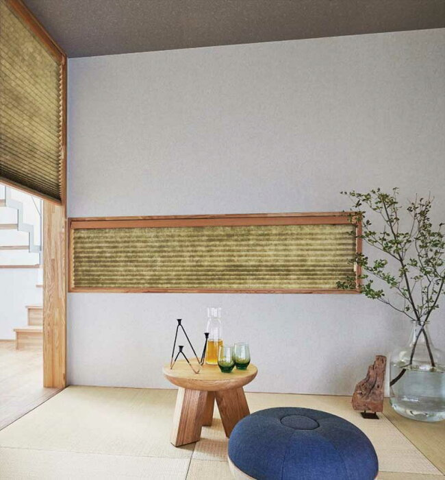 プリーツスクリーンプレーン和紙調カーテンレールに設置簡単施工プリーツカーテンニチベイノドカ