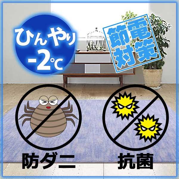 ラグ・カーペット・絨毯・マット冷感ラグで省エネ対策! −2度AQUAラグ クールストリームLA(ラベンダー) 190×240cm