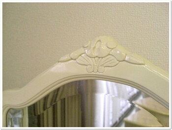 フィオーレドレッサー三面鏡鏡台【送料無料】化粧台鏡メイクボックステーブルデスクロココホワイト白家具家具輸入家具アンティーク姫系sa-c-1735-wsac-1735-wsac-1735wFiore