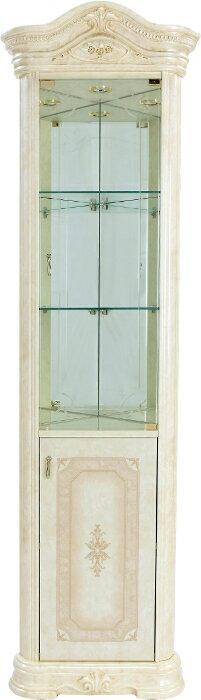 サルタレッリアマルフィコーナーボード幅60【送料無料】白家具おしゃれ木製ハイタイプガラス扉付きキャビネットSAMI-605-IV家具輸入家具イタリア家具姫系SAMI605-IVSAMI-605IV