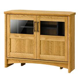 コーナーラック テレビ台 キャビネット 木製 ガラス扉