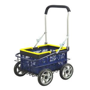 キャリーカート 折りたたみ 4輪 コンテナ付き バスケット台車 新品アウトレット
