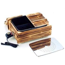 おでん鍋 家庭用 電気鍋 ふるさとのれん 多用途おでん鍋 仕切り板付 目皿付 蒸し器 新品アウトレット