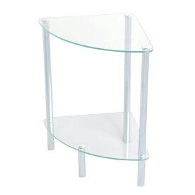 サイドテーブル ガラス おしゃれ コーナー テーブル 小型 シンプル ガラスラック