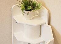 トイレ収納トイレラックコーナースリムトイレットペーパー完成品木製おしゃれ棚狭いラックHTR-175ホワイト白シンプル三角ストッカートイレラックトイレ収納コーナーラックVH-S1