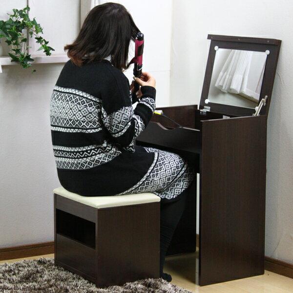 【今だけ!600円OFFクーポン利用とポイント5倍でお買い得!】 ドレッサー 収納 ドレッサー デスク SN-SDD-50 鏡台 化粧台 姿見 木製 かわいい 可愛い 姫系 椅子 椅子付き 姿見 ミラー 一面鏡 白 ホワイト スツール 鏡 セット コンパクト スツール付き 送料無料 YW-S1