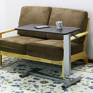 テーブル サポートテーブル 高さ調節 SPT-945 幅80 天板 ガス圧 昇降式 昇降テーブル 脚 パーツ キャスター キャスター付き 木製 ベッドサイド テーブル ソファ 昇降式テーブル VH-S2