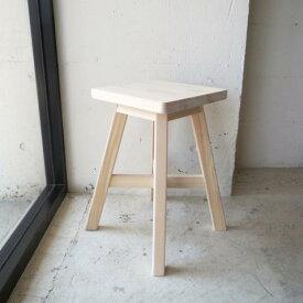 SUGIKOUJOU / SHOKUDOU CHAIR杉工場 / 食堂椅子 角スツール/椅子/木製/シンプル/素朴/天然木/おしゃれ/北欧