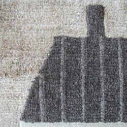 undyed+/CHIISAIRUG/IE1アンダイドプラス/ちいさいラグ/いえ165×45cm玄関/ラグ/マット/カーペット/絨毯/無染色/ウール/羊毛/イラクサ/いらくさ/チベット/ネパール/脇阪克二