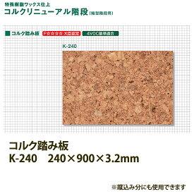 東亜コルク トッパーコルク コルクリニューアル階段 コルク踏み板 K-240 240×900×厚3.2mm 1枚