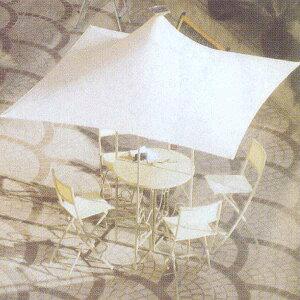 ジャービス商事 HIGH TABLE WITH UMBRELLA アンブレラ付ハイテーブル スチール クリーム 13054 1台