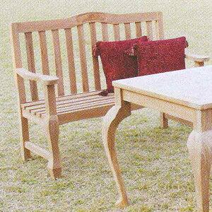 ジャービス商事 ORIGINAL BENCH 手作りベンチ ORIGINAL SET 手作りセット チーク 無塗装 20717 1台