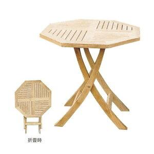 ジャービス商事 FOLDING TEAK TABLE 折り畳みテーブル チーク 無塗装 20869 1台