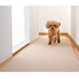 サンコー おくだけ吸着 ペット用床保護マット ベージュ KM-59 60×240cm 約4mm厚