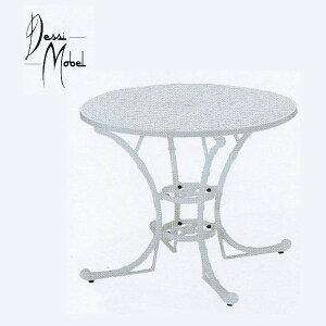 Dessi Mobel フィリピナステーブル ホワイト 径915×H700mm パラソル穴径40mm