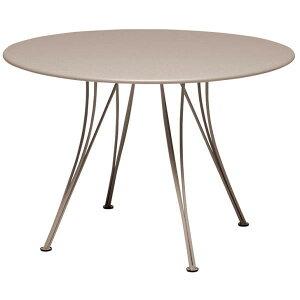 FERMOB ランデブテーブル110/14ナツメグ φ1,100×H740mm
