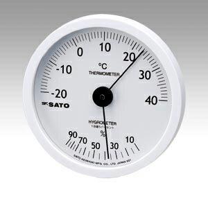 佐藤計量器製作所 ホワイティ温湿度計 1022-00 1台