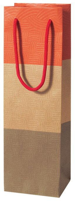 包装袋 ボトル袋 383913 ボトル用 1本用 AMI・レッド 120×90×380 100枚