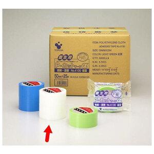 寺岡製作所 養生テープ Pカットテープ NO.4100 透明 巾50mm×長25m 1巻