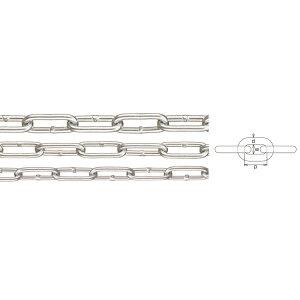 水本機械 強力アルミチェーン 線径8mm 生地(アルマイトなし)磨きのみ AL-8 1m長価格