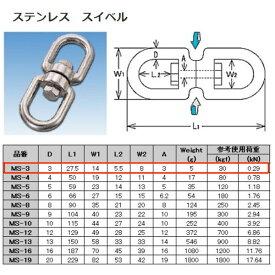 水本機械 スイベル ステンレス金具 MS-3