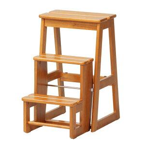踏み台 3段 stc-3収納 踏み台 背もたれなし 木製 天然木 ステップチェア スツール チェア 椅子 イス いす きゃたつ 脚立 昇降台 ブラウン 階段 玄関 大掃除 キッチン用 コンパクト works