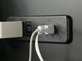 iphone用のライトニングケーブルAndroid用のMicroUSBケーブルのどちらも利用可