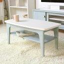 ローテーブル ミニテーブル 木製 幅80 ホワイト 白 木目 アンティーク ブルー フレンチカントリー ヨーロピアン シャビーシック かわいい おしゃれ エレガント リビングテーブル センターテーブル フレンチシャビー frs-8040t works