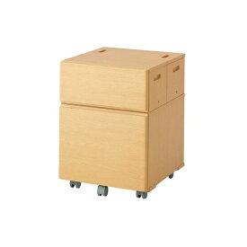 アウトレットセール 学習家具 オカムラ デスクワゴン単品 ピエルナトーノ ボックスワゴン 865VAA-W995 ナチュラルオーク送料無料