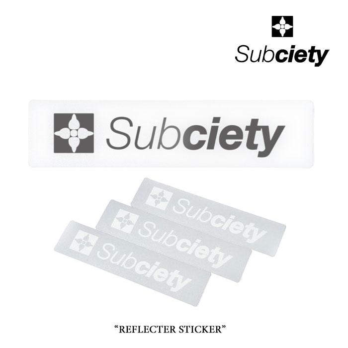 SUBCIETY SPORT(サブサエティ スポ?ツ)REFLECTOR STICKER - THE BASE -【2018SPRING先行予約】【キャンセル不可】【SUBCIETY ステッカー】【113-87009】