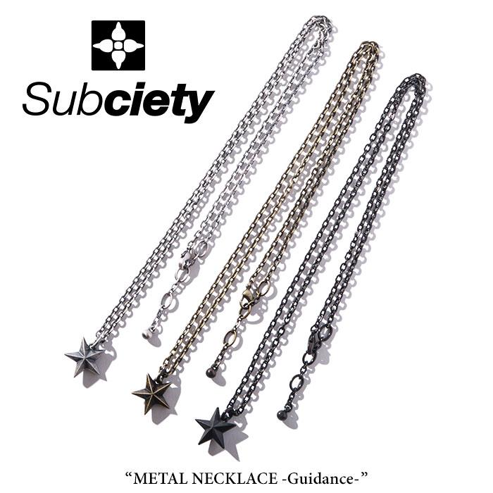 SUBCIETY(サブサエティ)METAL NECKLACE-Guidance-【2018SPRING先行予約】【キャンセル不可】【104-94246】