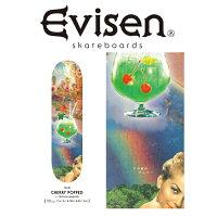 EvisenSkateboards(エヴィセンスケートボード)CHERRYPOPPEDbyTETSUYANAGATO【デッキスケートボードスケボー】【エビセンスケートボードEvisenSkateboardsゑ】【00006116】