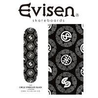 EvisenSkateboards(エヴィセンスケートボード)CIRCLESYNDICATEBLACKby田中ケイ【デッキスケートボードスケボー】【エビセンスケートボードEvisenSkateboardsゑ】【00006114】