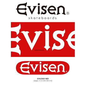 Evisen Skateboards (エヴィセン スケートボード)EVILOGO RED【デッキ スケートボード スケボー】【2021 SPRING&SUMMER COLLECTION】【159387018】
