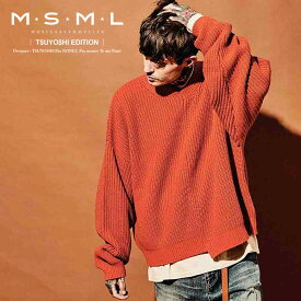 MSML(MUSIC SAVED MY LIFE)ZIP KNIT【2019AUTUMN&WINTER先行予約】【キャンセル不可】【M101-01K5-KN01】【MSML(MUSIC SAVED MY LIFE) T$UYO$HI (The BONEZ/PTP)EDITION】