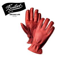 EVILACT(イーブルアクト)MCGTS(オイルドレザースリーシーズングローブ)red【レザーグローブ手袋バイクバイカー】