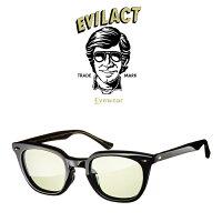 EVILACTEYEWEAR(イーブルアクトアイウエア)MERKEL(マーケル)BLACK/BLACK×ANTIQUECLEAR/GREENLENS【サングラスメガネ】【EAE21-08MERKEL】