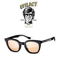 EVILACTEYEWEAR(イーブルアクトアイウエア)MERKEL(マーケル)BLACK/BLACK×ANTIQUECLEAR/BROWNLENS【サングラスメガネ】【EAE21-08MERKEL】