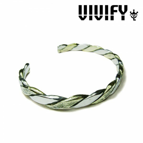 VIVIFY(ヴィヴィファイ)Twist & Press Bangle(Silver x Brass)【職人の完全手作業による逸品】【バングル】【送料無料】