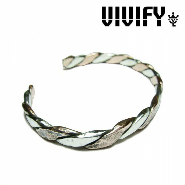 VIVIFY(ヴィヴィファイ)Twist & Press Bangle(Silver x Copper)【職人の完全手作業による逸品】【バングル】【送料無料】