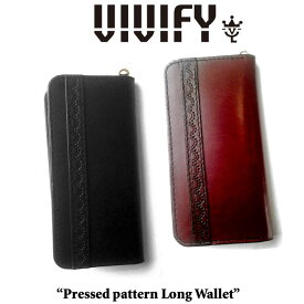 VIVIFY(ヴィヴィファイ)Pressed pattern Long Wallet【予約商品】【キャンセル不可】【長財布 ウォレット】【VFO-088】