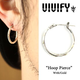 VIVIFY(ヴィヴィファイ)Hoop Pierce w/gold【オーダーメイド受注生産】【キャンセル不可】【VIVIFY フープピアス】【シルバー ゴールド】【VFP-105】